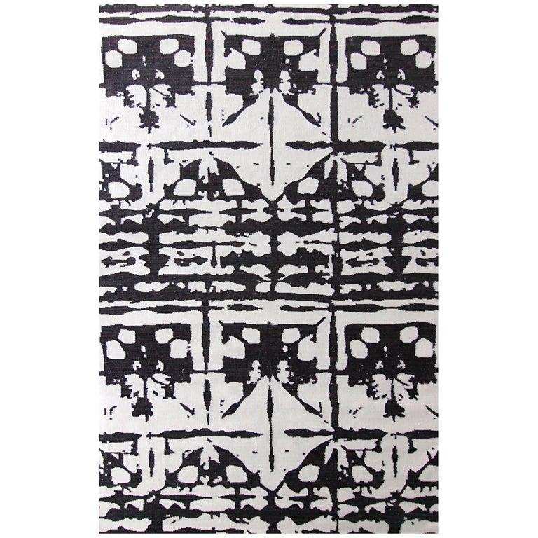 Eskayel, Banda, B&W Flat-Weave Rug For Sale