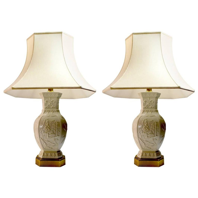 Pair of Frederick Cooper Blanc de Chine Style Table Lamps