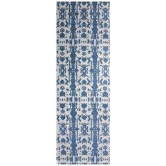 Eskayel, Biami, Indigo Flat-Weave Rug