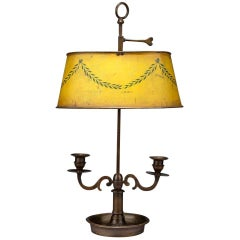 Twin Branch Student Lamp with Original Toleware Shade