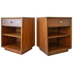 Pair of Kipp Stewart for Drexel Walnut Nightstands, circa 1965
