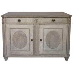 Swedish Gustavian Style Sideboard with Two Doors