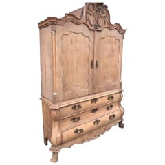 Stunning French Antique Linen Press