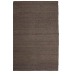 Vegetal Brown Hand-Loomed Jute Rug by Nani Marquina & Ariadna Miquel in Stock