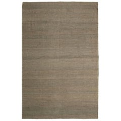 Vegetal Grey Hand-Loomed Jute Rug by Nani Marquina & Ariadna Miquel in Stock