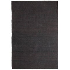 Vegetal Black Hand-Loomed Jute Rug by Nani Marquina & Ariadna Miquel in Stock