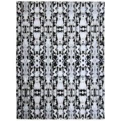 Eskayel, Biami, Black Rug, 100% Silk Lulu Weave