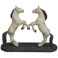 Swedish Pair of Dancing Horses