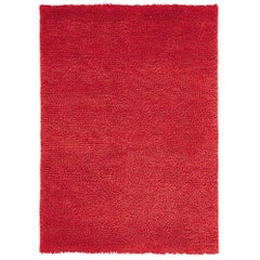 Velvet Red Hand-Loomed Wool Rug by Nani Marquina in Stock