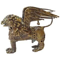 Pal Kepenyes. Griffin. Brutalist Bronze Sculpture