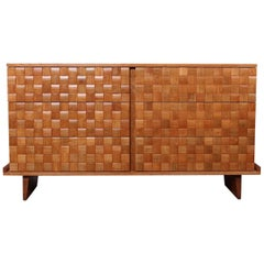 Paul Lazslo Basketweave Dresser for Brown Saltman