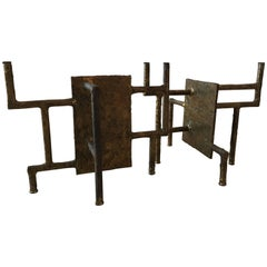 Silas Seandel Bronze Brutalist Coffee Table Base