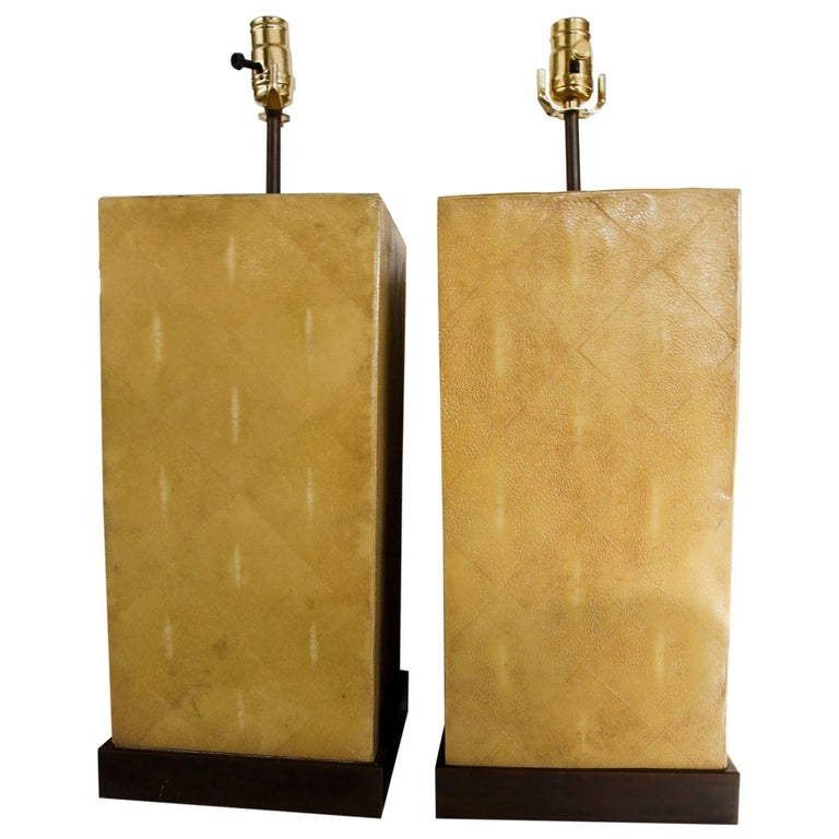 Pair of Stingray Lamps-- Shagreen 1