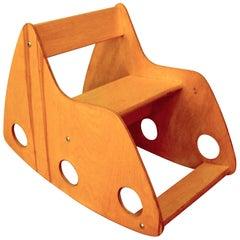 1966 USSR-Made Albrecht Lange and Hans Mitzlaff Plywood Child's Rocking Chair