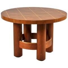 Swedish Art Deco Mahogany Circular Side Table