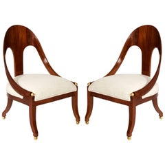 Pair of Regency Style Chairs, circa 1960s