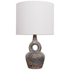 Large Owl Accolay Ceramic Table Lamp with Fabric Shade