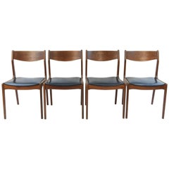 Set of Four Teak Danish Midcentury Side Chairs