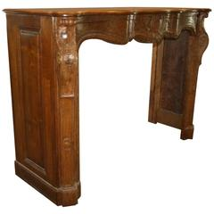 Hand-Carved Oak French Provincial Mantel