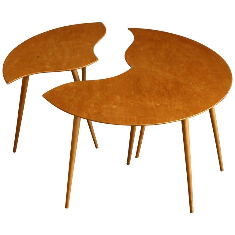 "Swedish Segmented ""Toothpick"" Table"