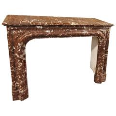 French Rouge Royale Marble Mantel
