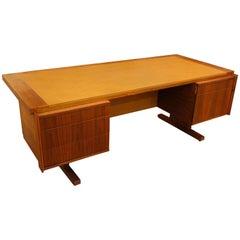 1960s Martin Borenstein Walnut Executive Desk