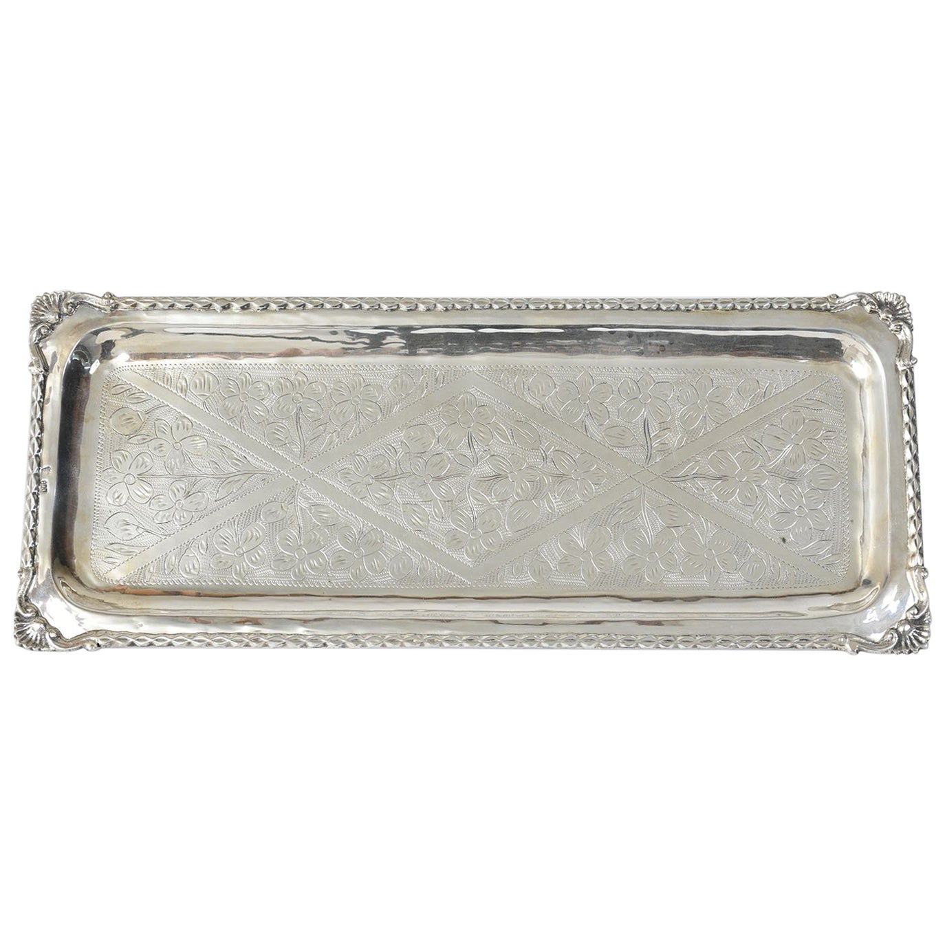 Sterling Silver Etched Candy Dish or Platter