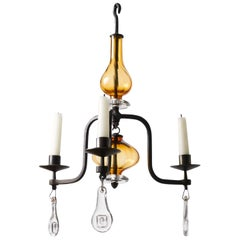 Erik Hoglund Three-Arm Chandelier