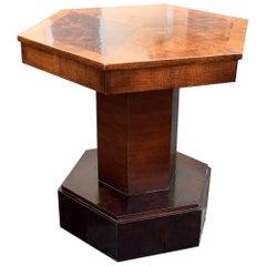 English Art Deco, 1930s Walnut Coffee Table