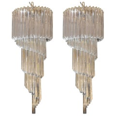 Pair of Venini Chandeliers