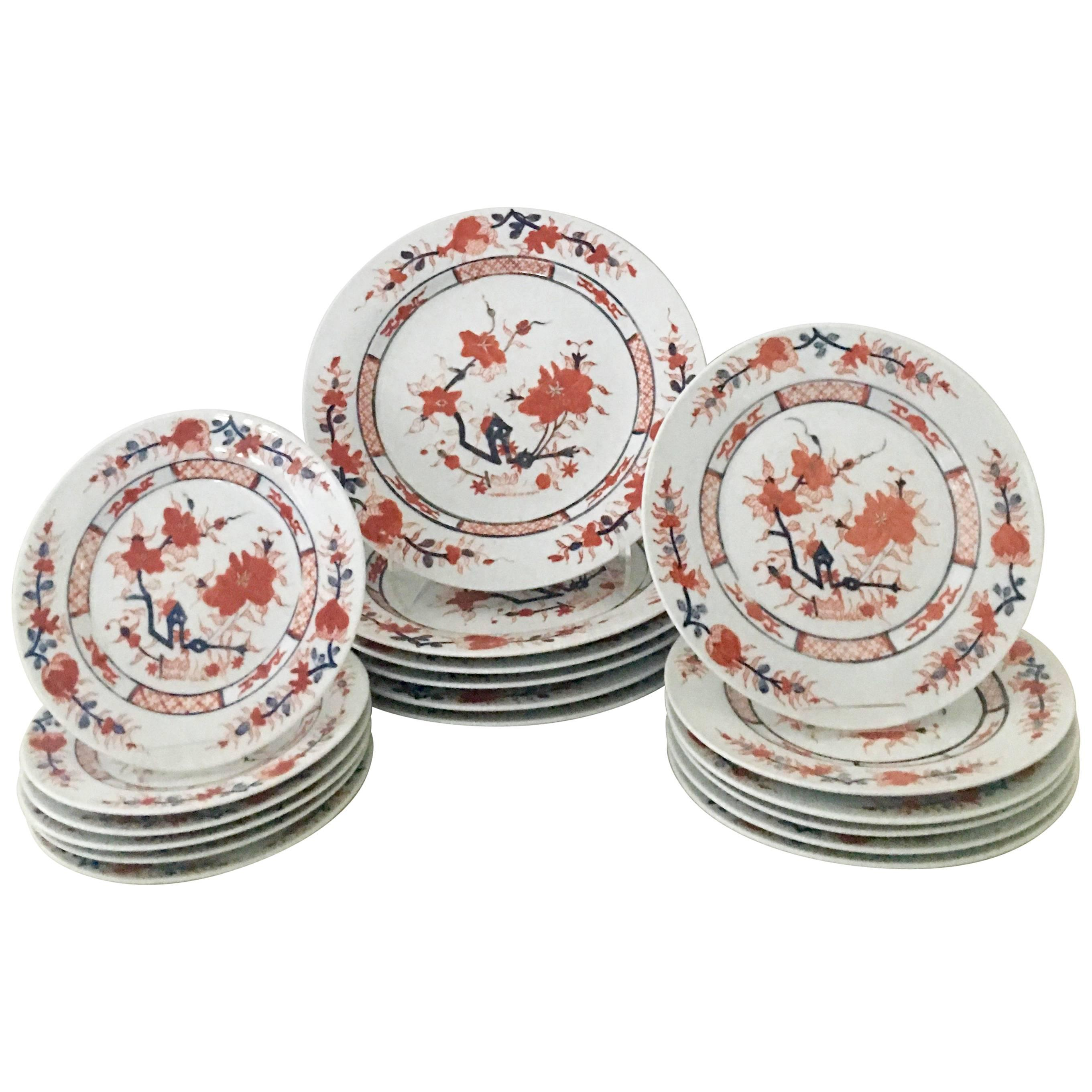 20th Century Japanese Porcelain Imari Dinnerware Set of 18 Pieces For Sale  sc 1 st  1stDibs & 20th Century Japanese Porcelain Imari Dinnerware Set of 18 Pieces at ...