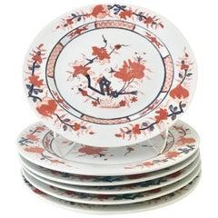 """1970'S Japanese Porcelain """"Imari"""" Dinner Plates, Set of Six"""
