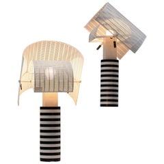 Pair of Shogun Table Lamps by Mario Botta
