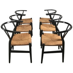 Early Set of Six Dining Chairs, CH24 Wishbone by Hans Wegner ,Carl Hansen & Son
