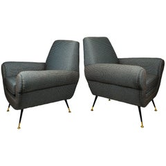 1960s Pair of Armchairs by Gigi Radice for Minotti, Italy
