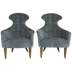 "Pair of Lounge Chairs ""Stora Eva"" 'Big Eve' by Kerstin Hörlin Holmqvist for NK"