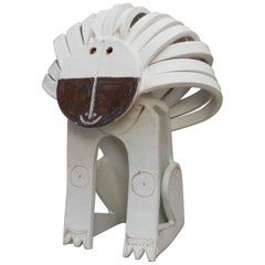 Ceramic Lion Sculpture by Bruno Gambone, circa 1970s