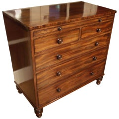 19th Century Mahogany Chest of Drawers with Mirror