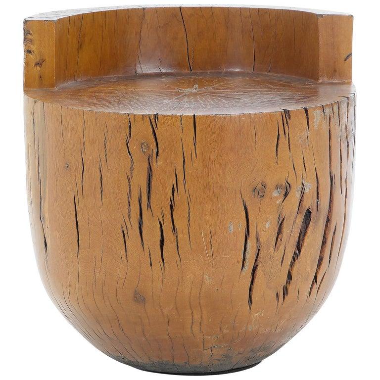"Stool ""Tambor"" Designed by Hugo França in ""Pequi Vinagreiro"" Solid Wood For Sale"