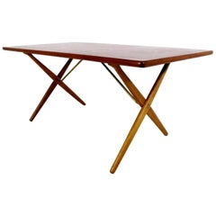 Dining Table / Writing Desk with Cross-Leg, At-303 Hans Wegner for Andreas Tuck