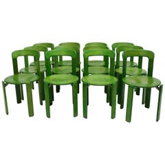 Green Dining Chairs by Bruno Rey, 1970s, Switzerland