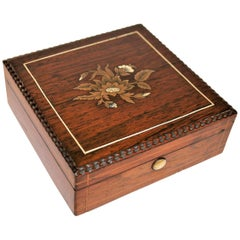 French Charles X Marquetry Jewelry Box, 1850s