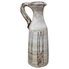 Small Ceramic Jug with Handle by Jacques Pouchain, circa 1960s