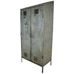 Two-Door Metal Locker Room Cabinet Industrial Scandinavian