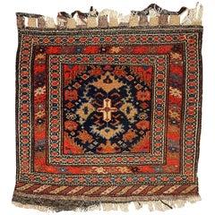 Handmade Antique Collectible Persian Malayer Bag Face, 1900s
