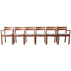 Danish Modern Teak Dining Chairs by Dyrlund, Set of Six