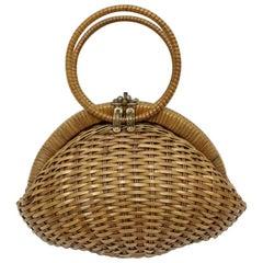 Basket Ladies Hand Bag, 1950s, Italy