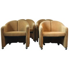 PS 142 Armchairs by Eugenio Gerli for Tecno, 1966, Set of Four