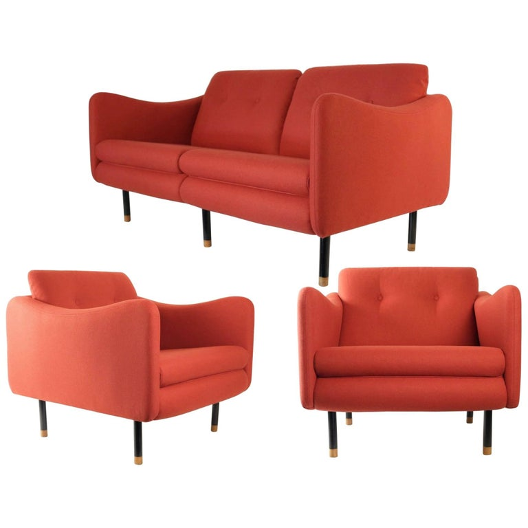 "1960s Living Room Suite ""Teckel"" by Michel Mortier for Steiner, France For Sale"
