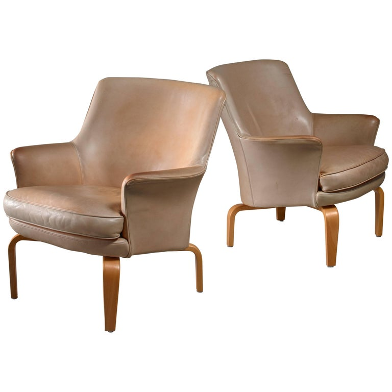 Arne Norell Pair of 'Pilot' Lounge Chairs, Sweden